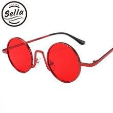 98130566a7754 Sella moda mujer hombres Retro marco redondo pequeño gafas de sol gótico  Vintage colorido lente tinte aleación marco gafas de so.