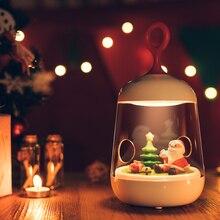 Santa Claus Christmas Musicbox Lights Decoration LED Night Light kids atmosphere desk lamp usb gift novelty lighting motion Lamp
