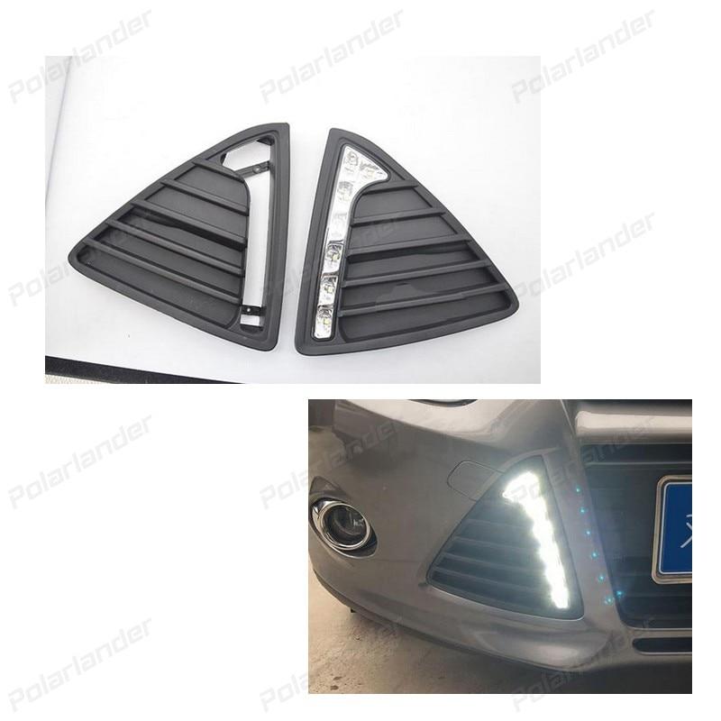 Daytime running lights For F/ord F/ocus 2012-2014 Car styling 2 pcs car Headlight 2 38 2012