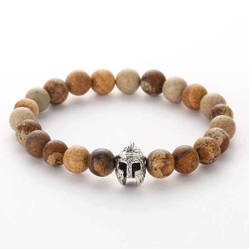 MOREON 8 มม. ธรรมชาติภาพ, หิน, แหวนเดี่ยว, สิงโตหัวเกราะ, หัว, หลายเงินมือแฟชั่น strings.