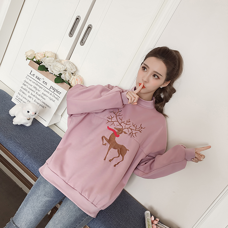 New Ugly Deer Christmas Sweats Women Santa Claus Reindeer Patterned Sweatshirts New Midd ...