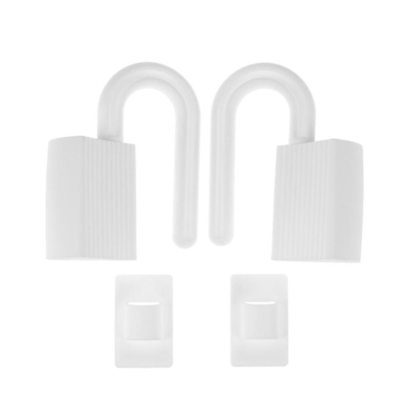 2pcs/set White Color Safety Protection Locks Security Door Locks For Infant Baby Locks For More Than 9mm Door Crack