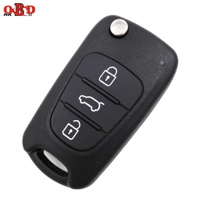 Wholesale For Hyundai i20 i30 I30 IX35 Flip Key Replacment Black Shell  Central Locking 3f5218a9ae27