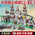 750 unids reyes castillo dragón soldados diy ladrillos de construcción bloques juguetes de navidad regalo compatible legoes