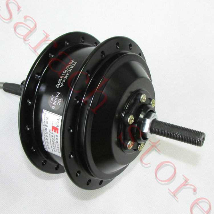 350W 36V brushless gear high-speed motor ,electric bicycle motor, rear wheel .hub motor. high speed 24v 36v 48v 350w ebike brushless gearless mini hub motor rear wheel with 7 speed gear hub dropout 135mm