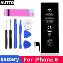 100% мобильный телефон для iPhone 6 оригинальный аккумулятор 6G Емкость 1810 mAh 6g мобильный телефон замена batterywith бесплатный ремонт инструменты