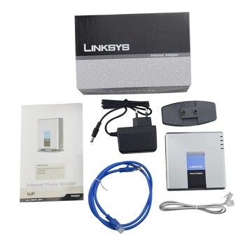 Бесплатная доставка! Разблокирована Linksys PAP2T ПА разблокирована с розничной коробке PAP2 NA VOIP адаптер шлюз VOIP