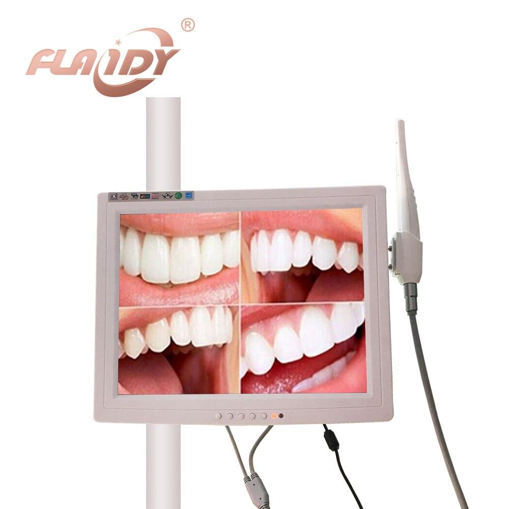 A0003 avec un 15 pouce moniteur VGA Caméra Intra-orale Endoscope Endoscope 6 Led Lumière Dentiste Caméra caméra dentaire odontologia
