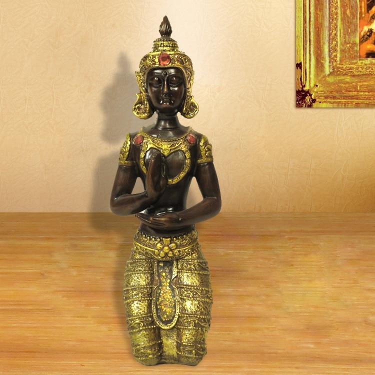 Retro, Southeast Asian, decoration, Thailand kneeling figure of Buddha, creative, Thai Home Furnishing, handicrafts, ornamentsRetro, Southeast Asian, decoration, Thailand kneeling figure of Buddha, creative, Thai Home Furnishing, handicrafts, ornaments