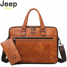 JEEP BULUO Brand Men Business Briefcase For 14 Fashion laptop A4 File New Shoulder Travel Bag Man High Quality