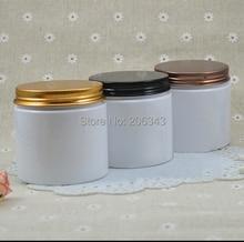 200G PET botella de crema blanca, envase cosmético, tarro poner crema, Tarro Cosmético con negro o de bronce o tapa de oro, Envases de Cosméticos