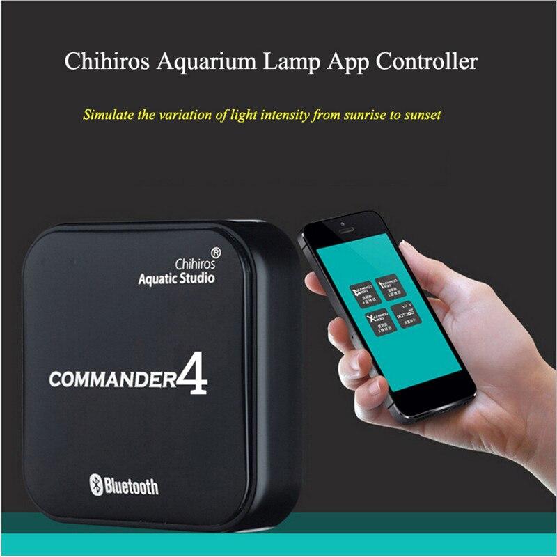 Controle app chihiros bluetooth led luz dimmer controlador modulador para aquário tanque de peixes iluminação inteligente cronometragem escurecimento