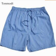 Мужские Короткие хлопковые клетчатая Пижама, мужские шорты для сна, большие размеры 4XL
