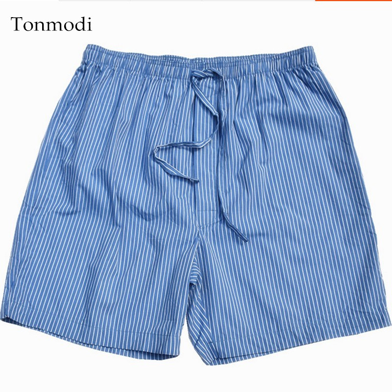 Mens Pants Short Cotton Plaid Pyjamas Pants Men Sleep Bottoms Shorts Plus size 4XL ...
