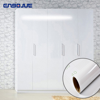 0.4x3M Waterproof White Pearl Wallpapers Cupboard PVC Self Adhesive Wallpaper Furniture Renovation Stickers Kitchen Home Decor