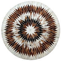Cowhide carpet mosaic geometric round rug study living room coffee table pad bedroom bedside blanket