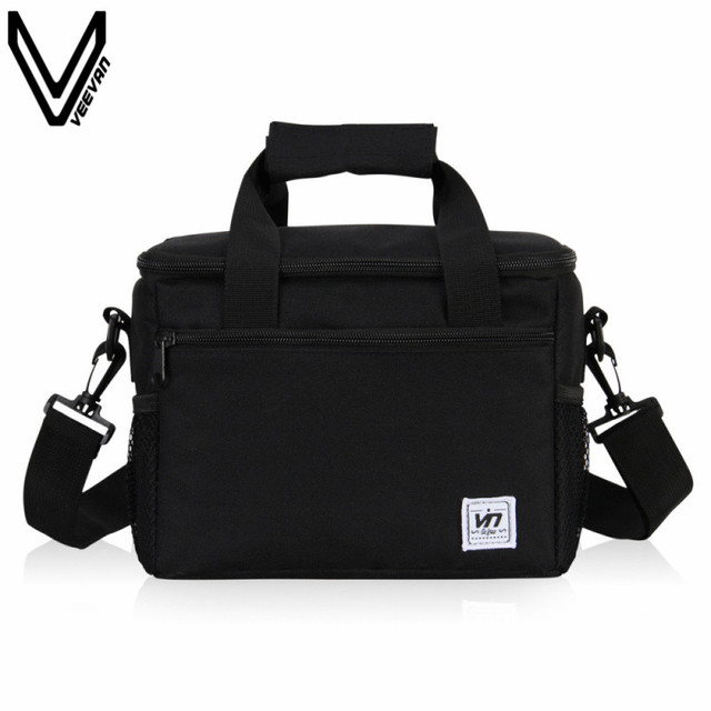 VEEVANV Portable Insulated Lunch Bag For Kids Cooler Box Tote Bag Women Men Lunch Box Messenger Bags Multifunction Thermal Bag