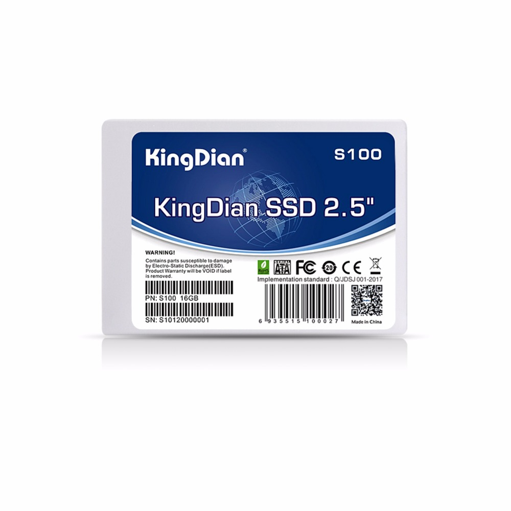 KingDian 2,5 SATA SATA2 SATA3 SSD más competitivo serie GB S100 16 GB 32 GB S200 60 GB S280 120 GB S280 240 GB 480 GB SSD