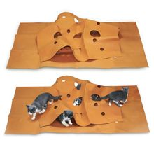 Cat Playing Mat Training Pet Activity Play Mats Collapsible Pets Rug Scratch Resistant Toys Bite Pad