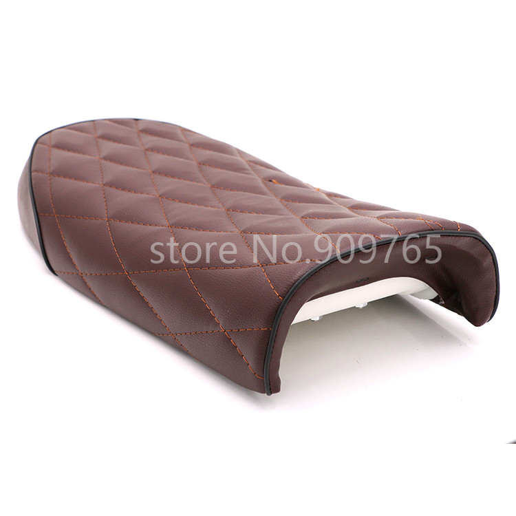 1 pc Brown Vintage Diamond Flat Brat Cafe Racer Seat For Suzuki GS450EX GS450L GS500E 500F GS550 GT125 500 185 500 T250 350 500 32016 hot cafe racer flat seat retro vintage locomotive refit motorcycle leather black a cover high quality waterproof