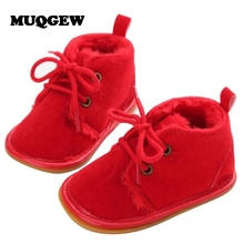 1Pair Baby Toddler Infant Girls Snow Ankle Boots Shoes Rubber Sole Prewalker Crib Shoes Drop Shipping&WHolesale