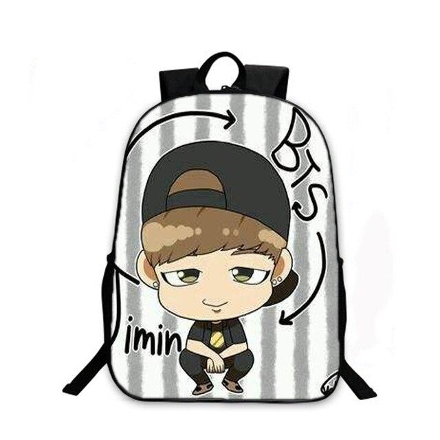 71a6e7c66b K-pop BTS Backpack for Teenagers Girls Boys Character School bag  Bulletproof Boy Scouts bookbag BTS Daily Laptop Backpack bag