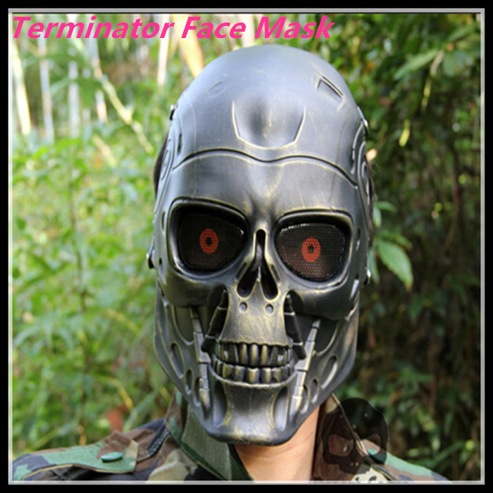 Halloween New Terminator mask Full Face Airsoft Mask Survival CS Wargame Field game Cosplay Terminator Movie Military Army mask