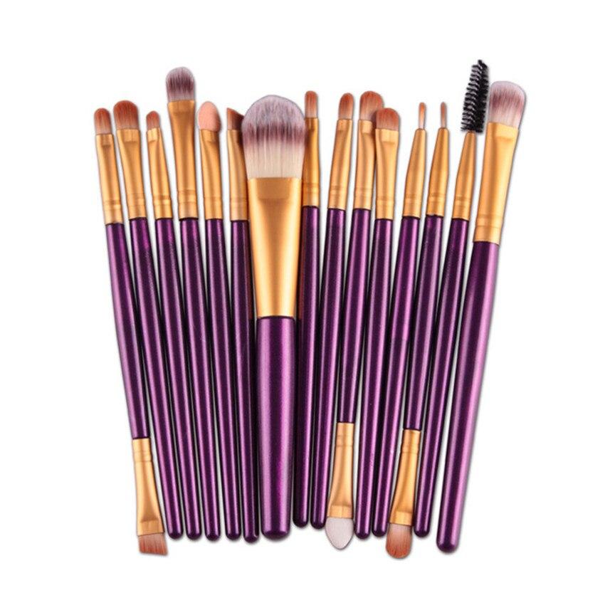 MAANGE 2017 15PCS Professional Makeup Brushes Cosmetics Eye Shadow Eyeliner Nose Lip Brush Beauty tools Kit Pinceis de maquiagem