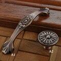 Muebles antiguos Tiradores de Bronce Ambry perillas y manijas Del Cajón Del Gabinete perilla de La Puerta Manija Armario Fruncir