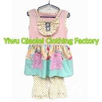 Wholesale Polka Dot Design Girl Set Cute Girl Boutique Clothes Girl Outfits