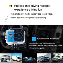 HAMTOD H9A Pro 2.0 inch LCD 4k ultra HD action camera support WiFi Sport Camera with Remote Control & Waterproof Case
