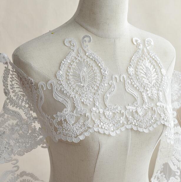 Wedding Gown Fabrics Guide: Cindylaceshow Wedding Dress Lace Trim Bridal Gown Fabric