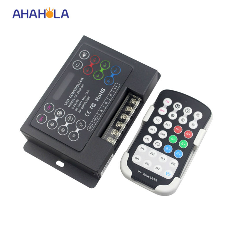 ФОТО 5 years warranty 3528 5050 wireless remote control rgb led rf controller DC 5-24V 18A DIY rgb controller bulit-in 29 modes
