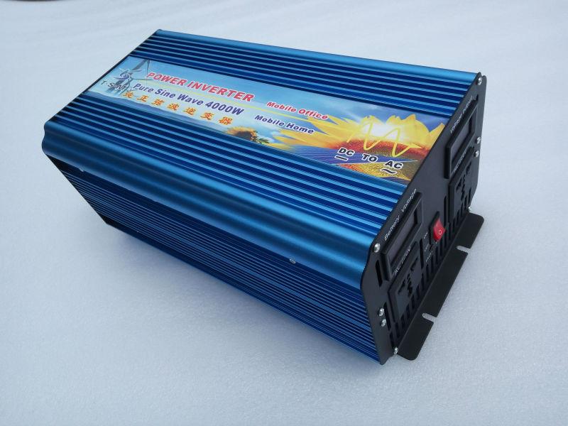 цена на inverseur de panneau solaire solar panel inverter 8000W Peak 4000W DC 12v to AC 220v pure Sine wave solar Inversor Inversor