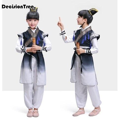 2019 novo chines tradicional tang roupas criancas menino roupas kungfu tradicional hanfu roupas traje minoria