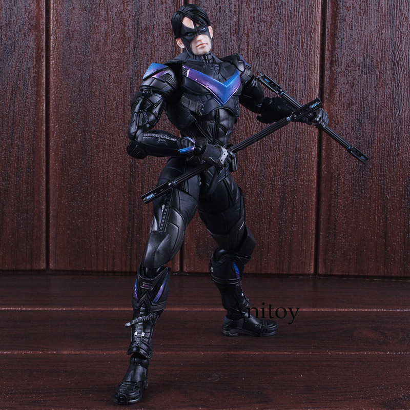 Batman Arkham Knight Play Arts Kai Action Figure No.6 Nightwing Figure PVC Collectible Model Toy 25cm 27cm play arts kai batman arkham knight pvc action figure collectible model toy bat man series movie figure kids diy model toys