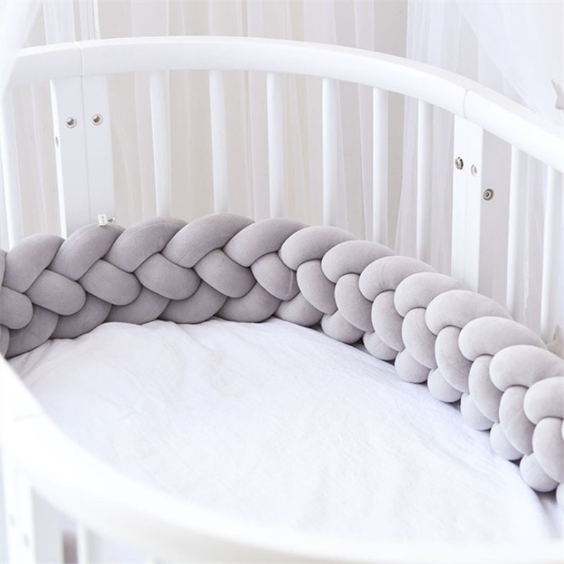 2M Baby Bed Bumper Baby Bumper For Boys Girls Baby Cot Bumper Crib Protector Cuna Para Bebe Room Decor