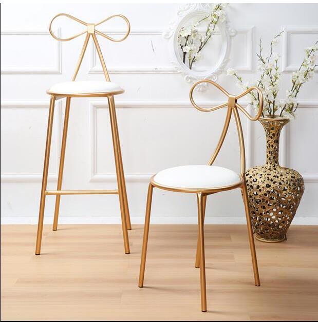 Nordic iron art bar chair chair creative bar high stool simple leisur