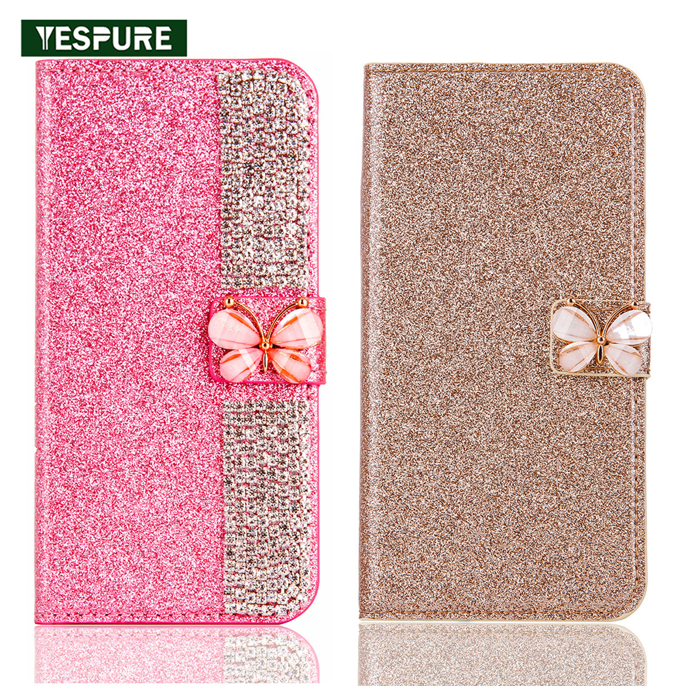 on sale 27a7c 97995 US $11.99 |YESPURE TPU+Leather Phone Accessories Mobile Case for Samsung  Galaxy S8 Plus Stand Telephone Card Holder Girls Fancy Covers-in Flip Cases  ...