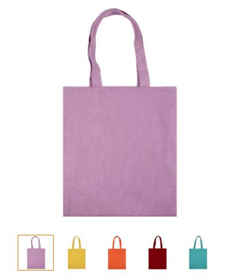 YILE Lining Cotton Linen Eco Shopping Tote Shoulder Bag Solid Candy Color 5 Colors To Choose 8731