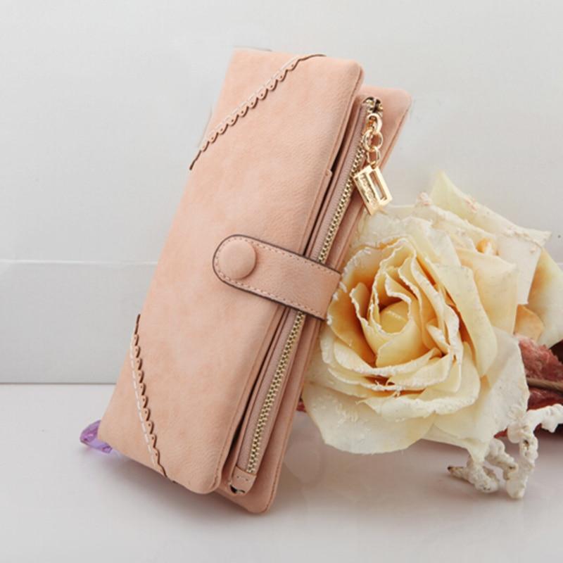 Vintage Women Wallet Famous Brand Zipper Wallet Ladies Long Clutch Change Purse Female Retro Card Girls Wallet 2018 Portefeuille Wallets
