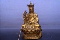 China Brass ksitigarbha bodhisattva statue Fengshui worship Deity Statue
