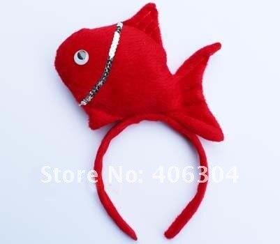 Повязки на голову для детей и взрослых с разноцветными рыбками, вечерние головные уборы, для пасхи, вечерние, рождественские, детские
