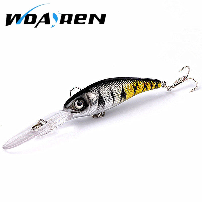 Laser sinking slowly minnow fishing lure 10 1cm 7 5g for Fly fishing lures