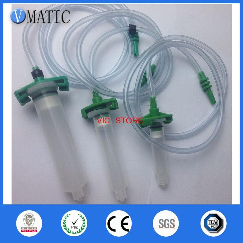 Quality 3pcs/lot Luer Lock Tip Dispenser Syringe Barrel Valve Robot Adapter With Plastic Tube/connector