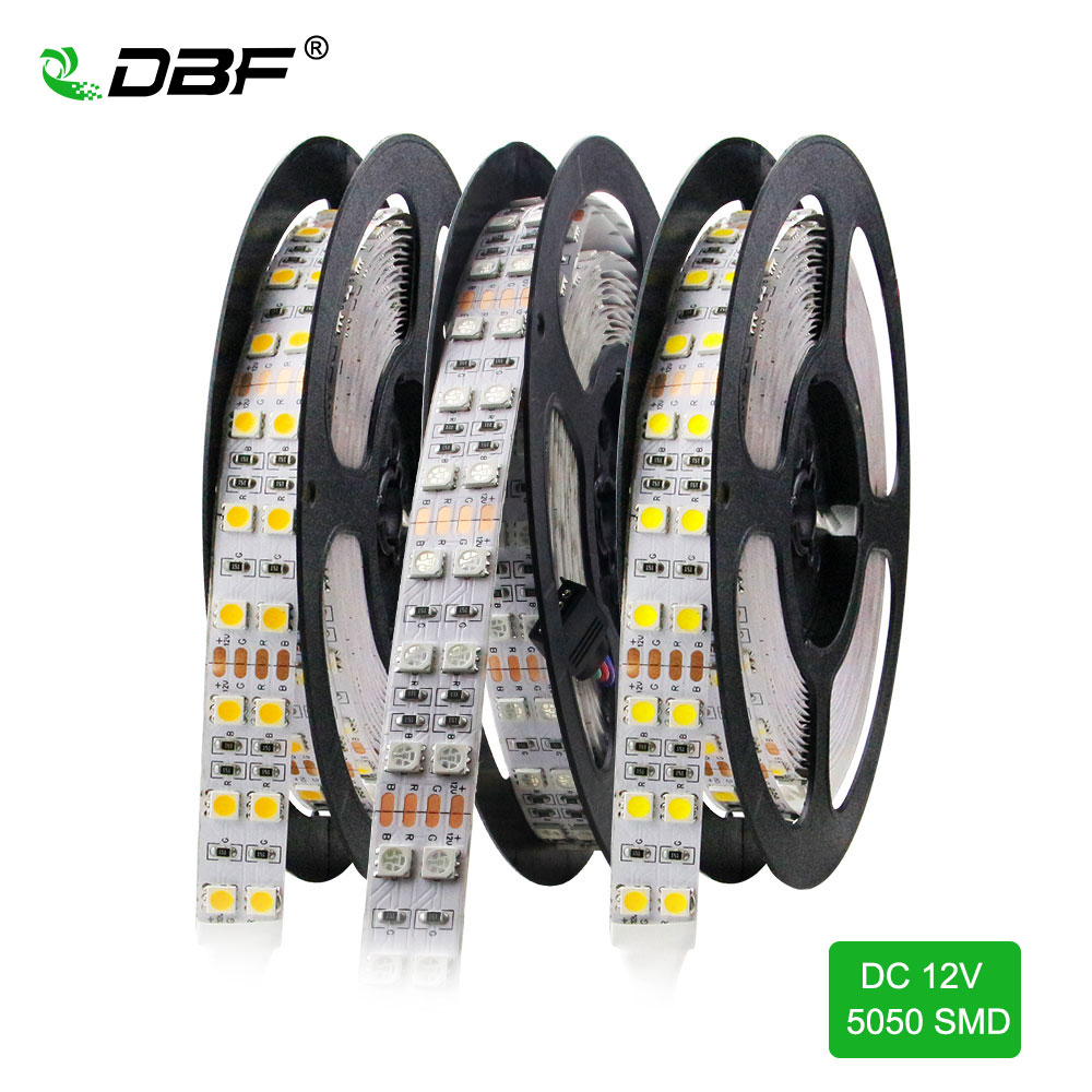 [DBF]5050SMD RGB LED Strip Light,IP67 Tube-Waterproof DC12V 5M/roll Single/Double Row 3000K/6500K Outdoor/Indoor LED Tape Light