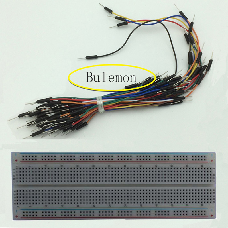 2pcs/set 830 Point Solderless PCB Breadboard Universal Solderless Protoboard +65pcs Jumper Wire