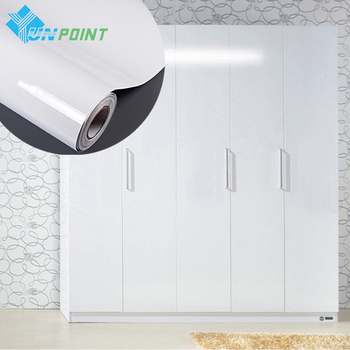 High Glossy White DIY Decorative Film Matte Self-adhesive Wallpaper Kitchen Cabinet Old Furniture Renovation Waterproof Stickers glossy pvc decorative film self adhesive wallpaper modern furniture renovation stickers kitchen cabinets waterproof wall paper