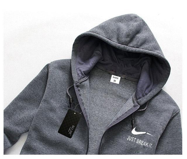 2017 Fashion Men's Hoodies JUST BREAK IT print Hoodies Sweatshirt Men Hip Hop Fleece high quality balck Hoody slim Sportswear