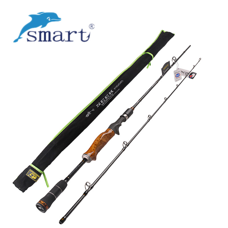 2 Secs Wood Handle Casting Fishing Rod 1.98m 2.1m 2.4m Power:ML/M/MH Carbon Lure Rods Vara De Pesca Peche Stick FishingTackle